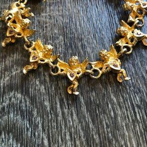 Angels and Amethyst Gold Bracelet